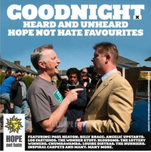 Target by Numbers To Star in HOPE Not Hate Album Alongside Billy Bragg, Paul Heaton, Blossoms, Inspiral Carpets And More