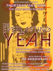 Great Gig this Thursday (London) – The Everlasting Yeah at the Half Moon, Putney